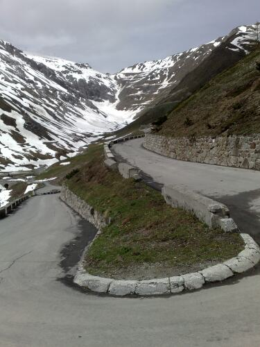 Stelvio view to the top of the pass - klik voor vergroting